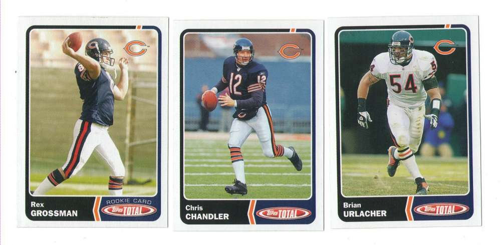 2003 Topps Total Football Team Set - CHICAGO BEARS