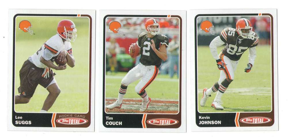 2003 Topps Total Football Team Set - CLEVELAND BROWNS