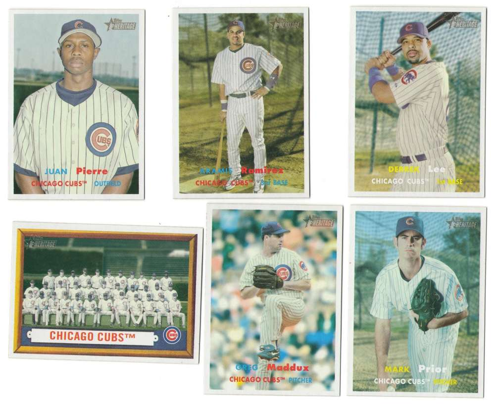 2006 Topps Heritage w/ SPs - CHICAGO CUBS Team Set