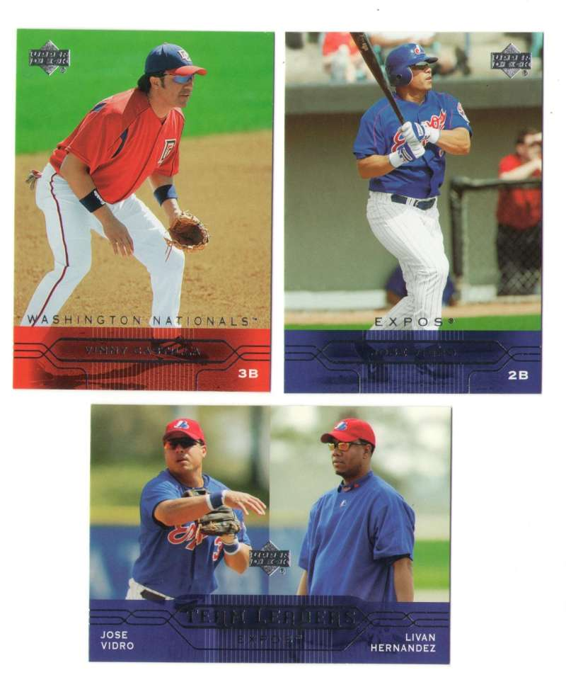 2005 Upper Deck - MONTREAL EXPOS / WASHINGTON NATIONALS Team Set