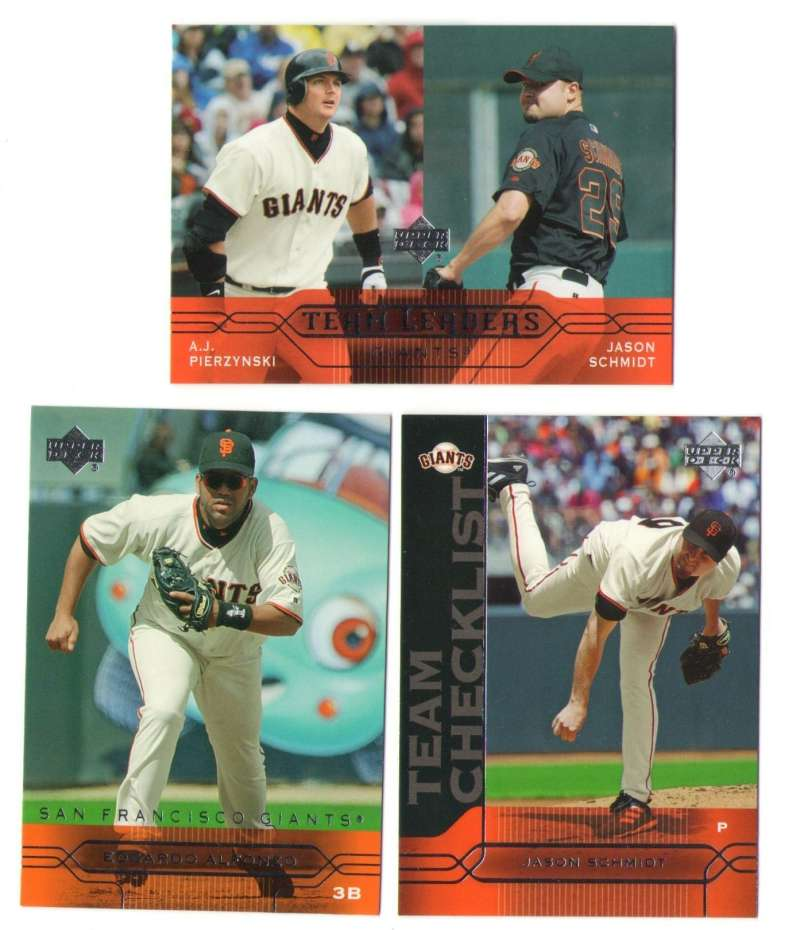 2005 Upper Deck - SAN FRANCISCO GIANTS Team Set