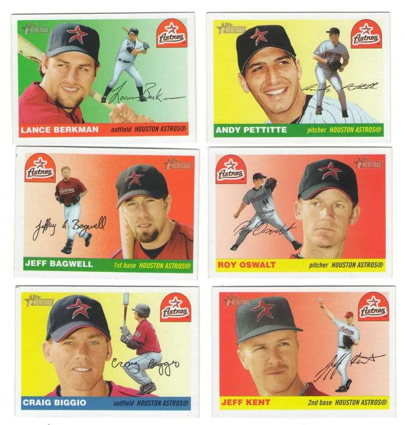 2004 Topps Heritage w/SPs - HOUSTON ASTROS Team Set
