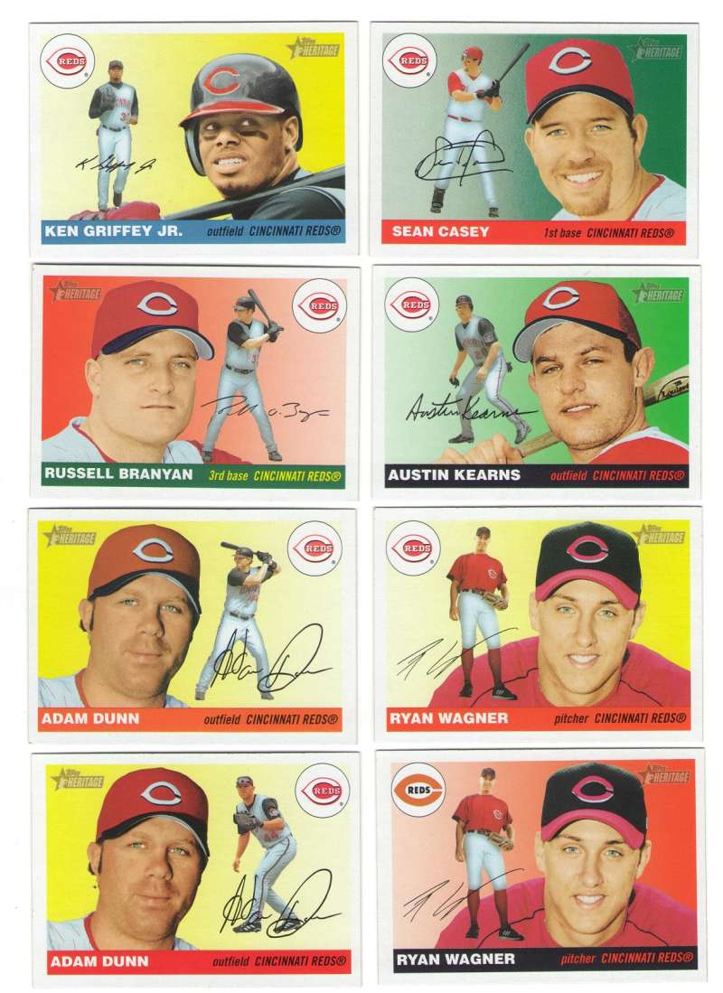 2004 Topps Heritage w/SPs and Variations - CINCINNATI REDS Team Set