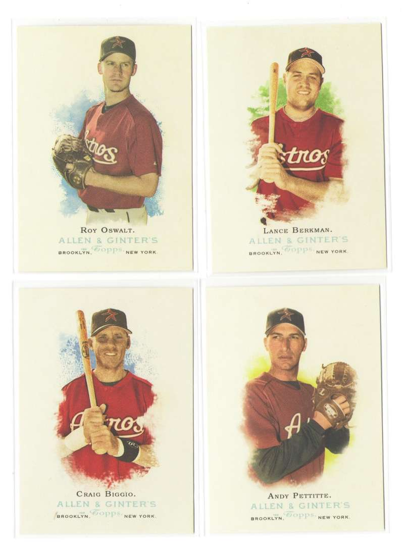 2006 Topps Allen and Ginter (1-350) - HOUSTON ASTROS Team Set
