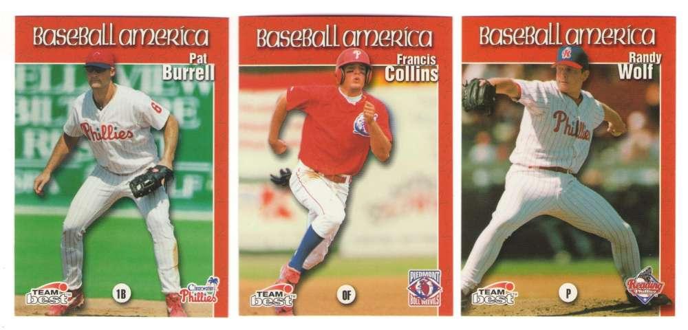 1999 Baseball America - PHILADELPHIA PHILLIES Team Set