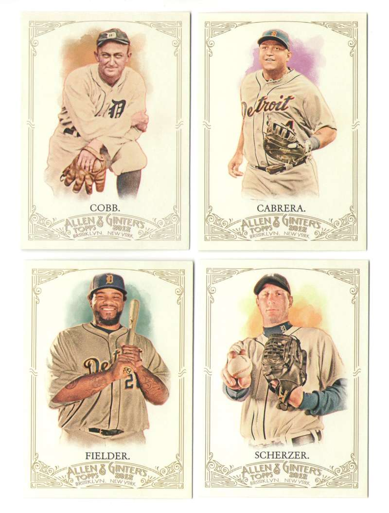 2012 Topps Allen and Ginter (1-350) - DETROIT TIGERS Team Set