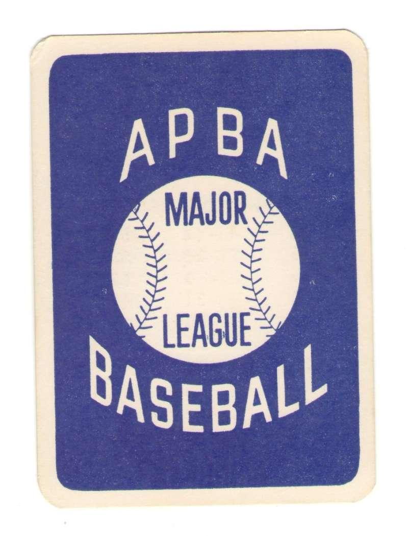 1983 APBA Season w/ Extra Players (writing on back) - MILWAUKEE BREWERS Team Set