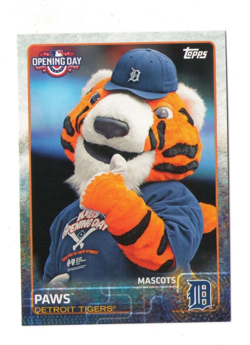 2015 Topps Opening Day Mascots - DETROIT TIGERS