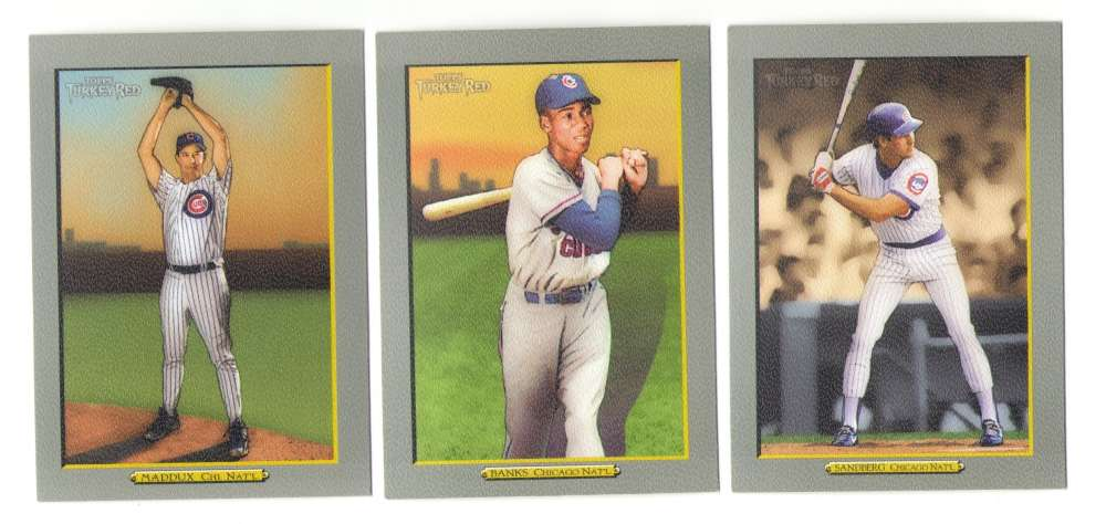 2005 Topps Turkey Red (Base) - CHICAGO CUBS Team Set