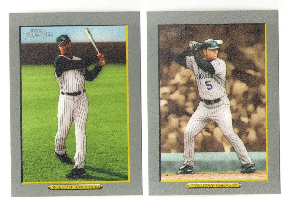 2005 Topps Turkey Red (Base) - COLORADO ROCKIES Team Set