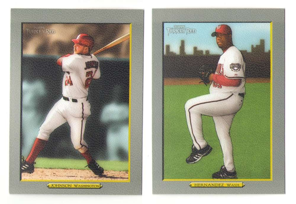 2005 Topps Turkey Red (Base) - WASHINGTON NATIONALS Team set