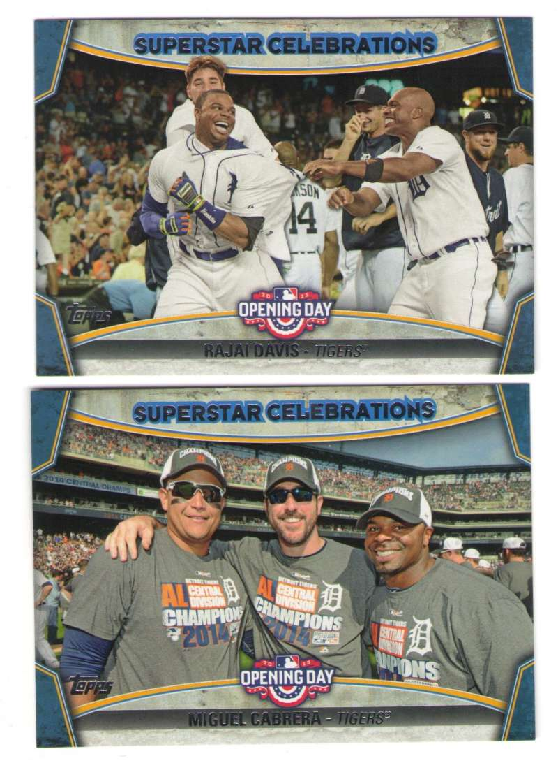 2015 Topps Opening Day Superstar Celebrations - DETROIT TIGERS