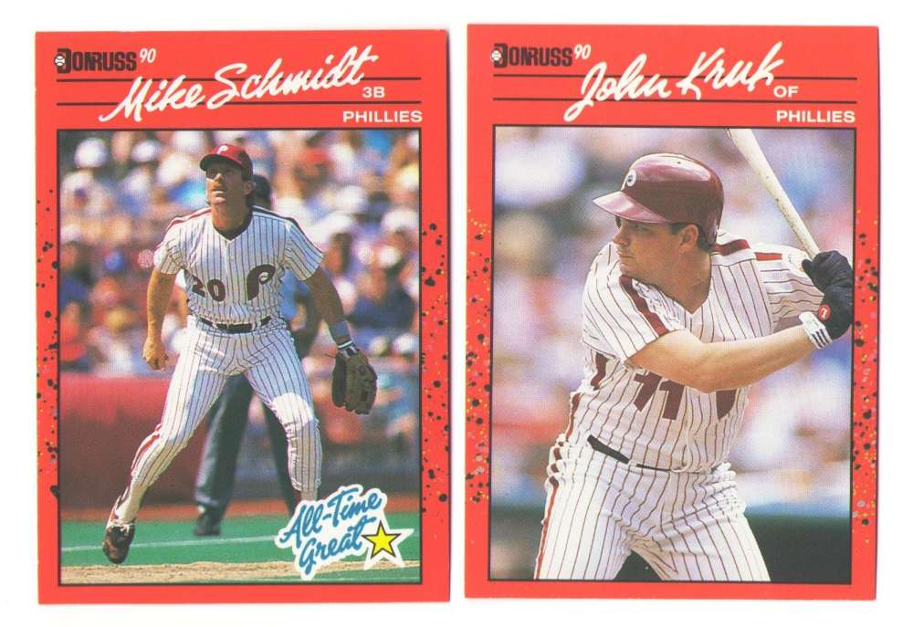 1990 DONRUSS - PHILADELPHIA PHILLIES Team Set