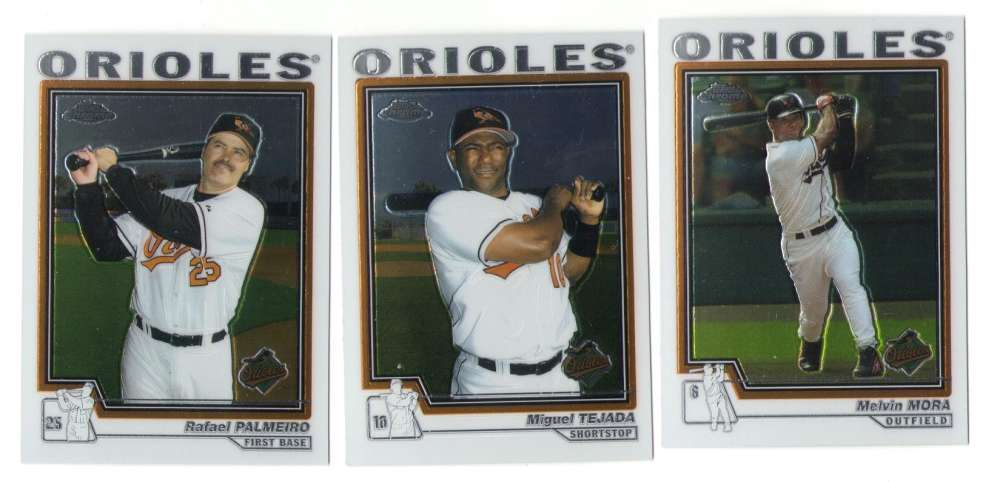 2004 Topps Chrome - BALTIMORE ORIOLES Team Set