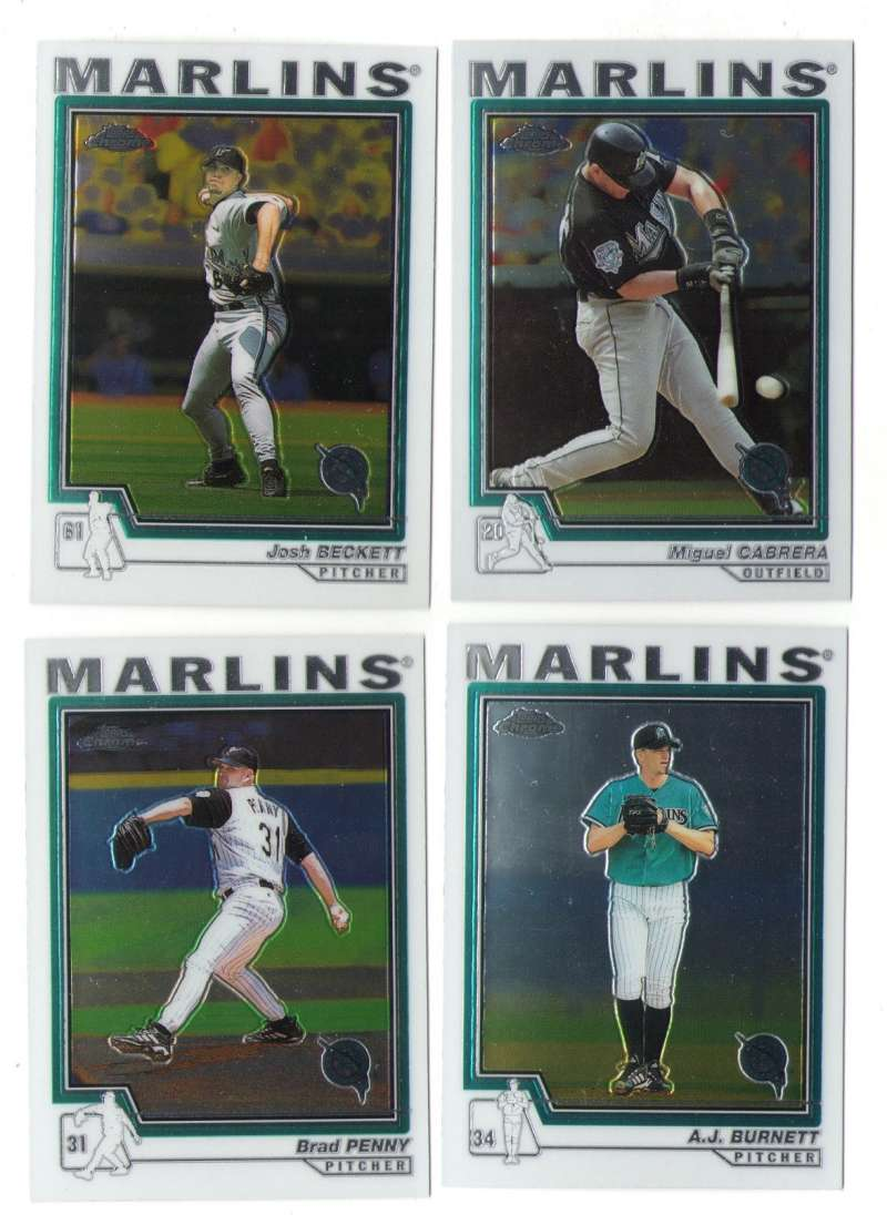 2004 Topps Chrome - FLORIDA MARLINS Team Set