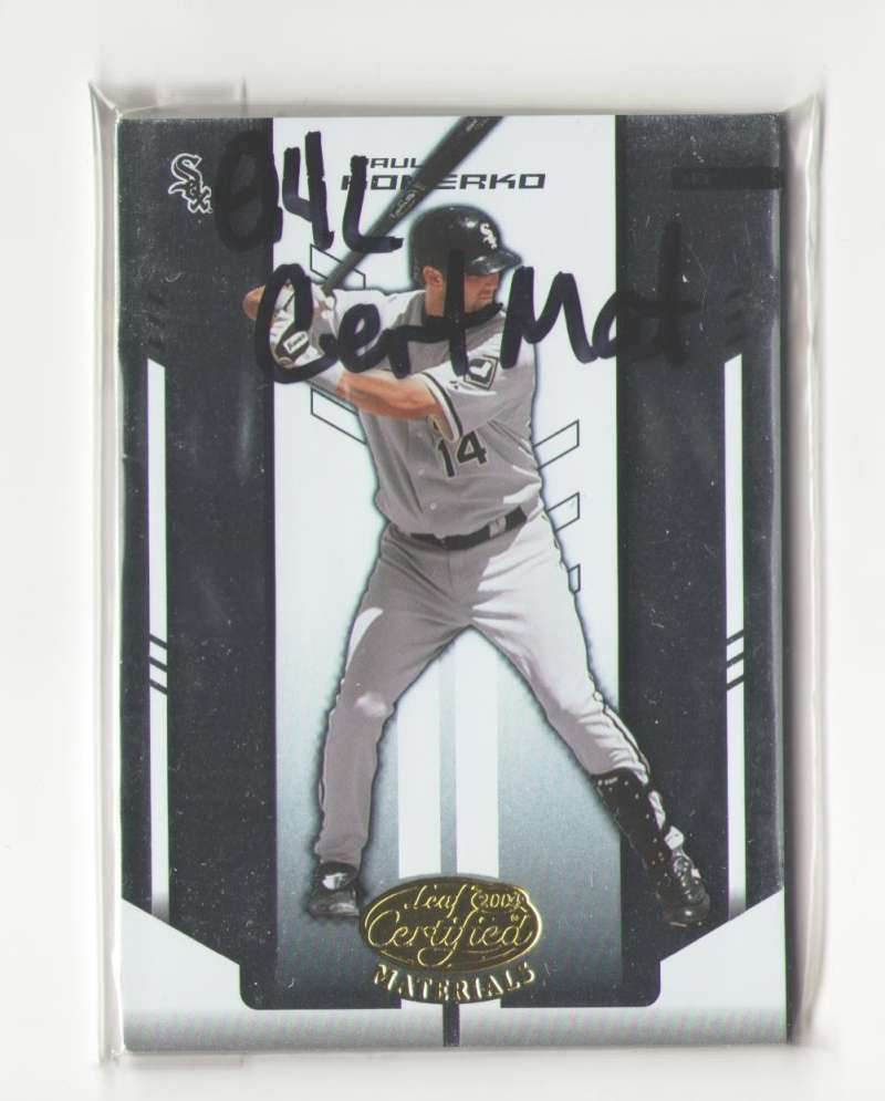 2004 Leaf Certified Materials (1-200) - CHICAGO WHITE SOX Team Set