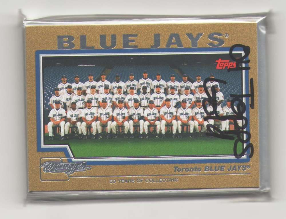 2004 TOPPS GOLD - TORONTO BLUE JAYS Team Set (#ed out of 2004)