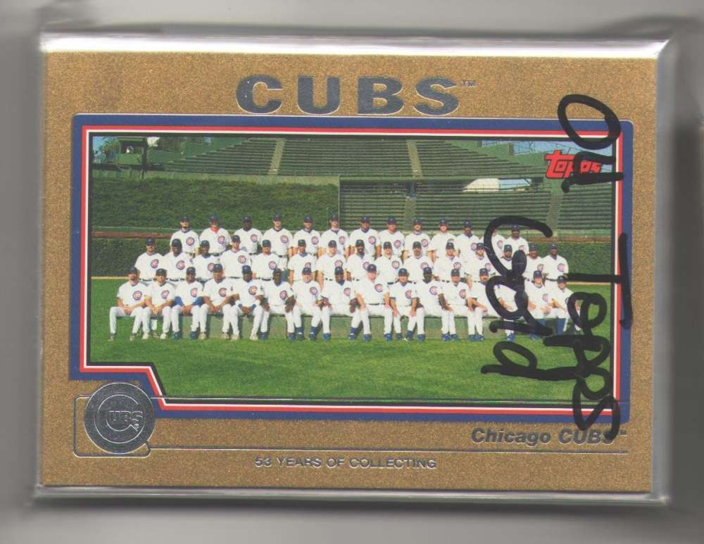 2004 TOPPS GOLD - CHICAGO CUBS Team Set (#ed out of 2004)