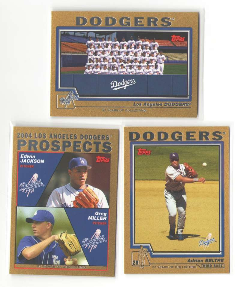 2004 TOPPS GOLD - LOS ANGELES DODGERS Team Set (#ed out of 2004)