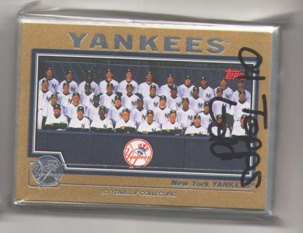 2004 TOPPS GOLD - NEW YORK YANKEES Team Set (#ed out of 2004)