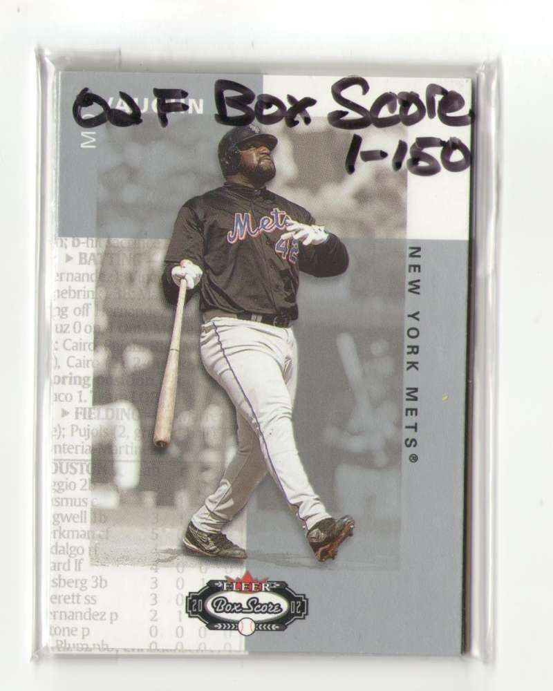 2002 Fleer Box Score (1-150) - NEW YORK METS Team Set