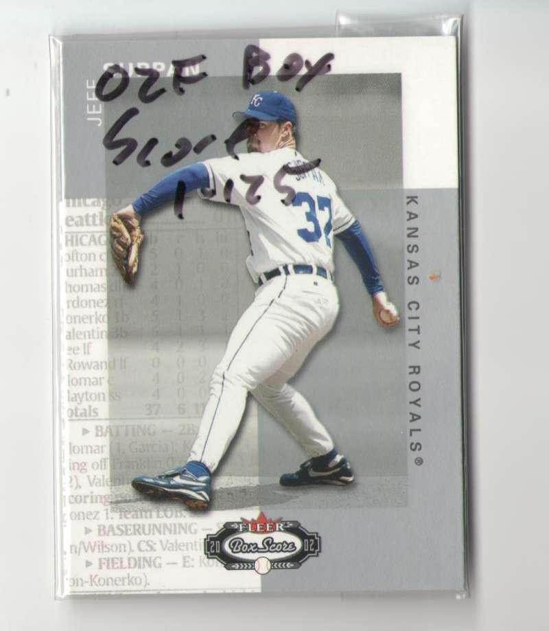 2002 Fleer Box Score (1-125) - KANSAS CITY ROYALS Team Set