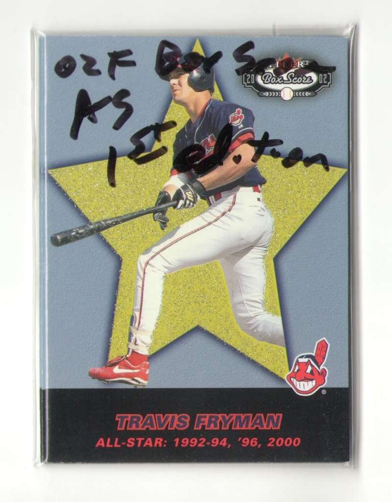 2002 Fleer Box Score All Star First Edition (#ed/100) CLEVELAND INDIANS Team Set