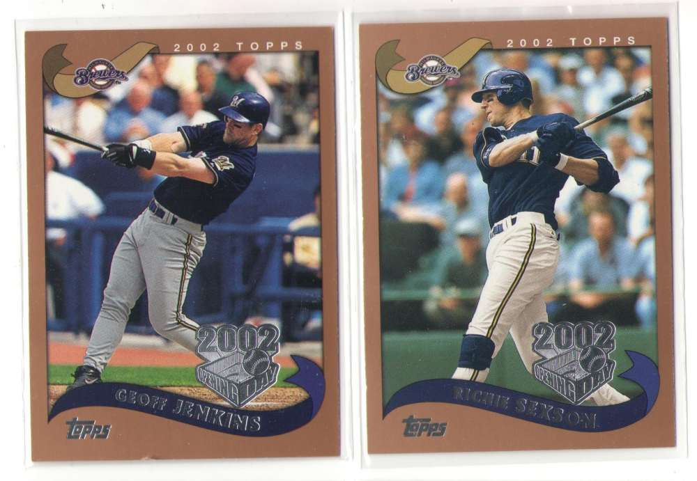 2002 Topps Opening Day - MILWAUKEE BREWERS Team Set