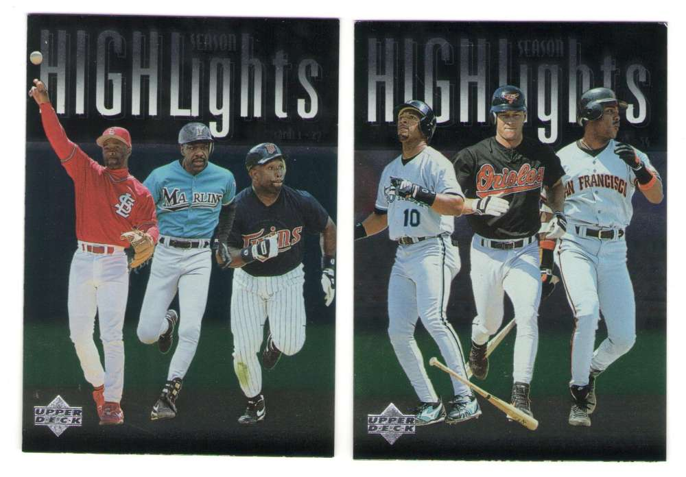 1997 Upper Deck - Two Card Combo Lot
