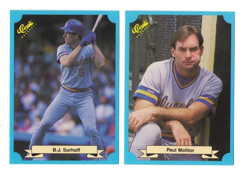 1988 Classic Blue - MILWAUKEE BREWERS Team Set