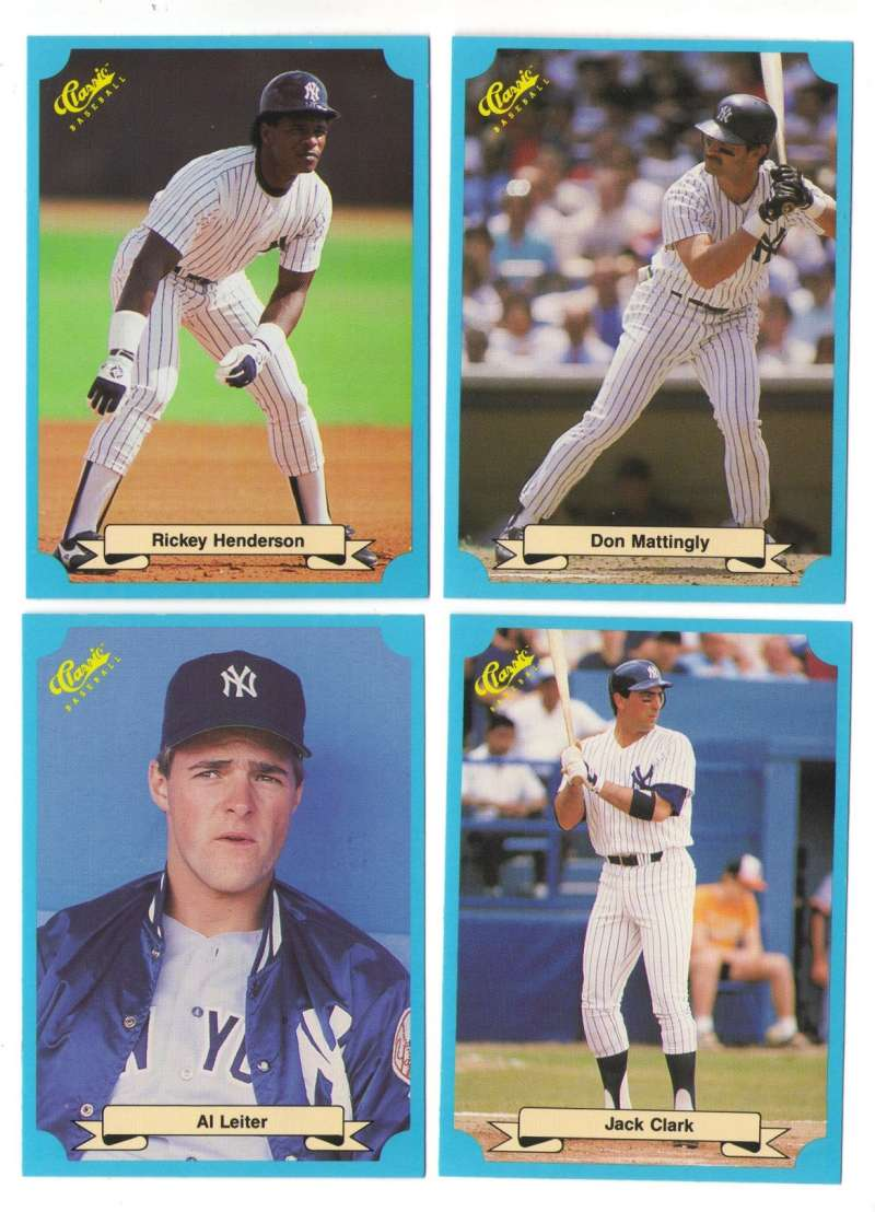 1988 Classic Blue - NEW YORK YANKEES Team Set