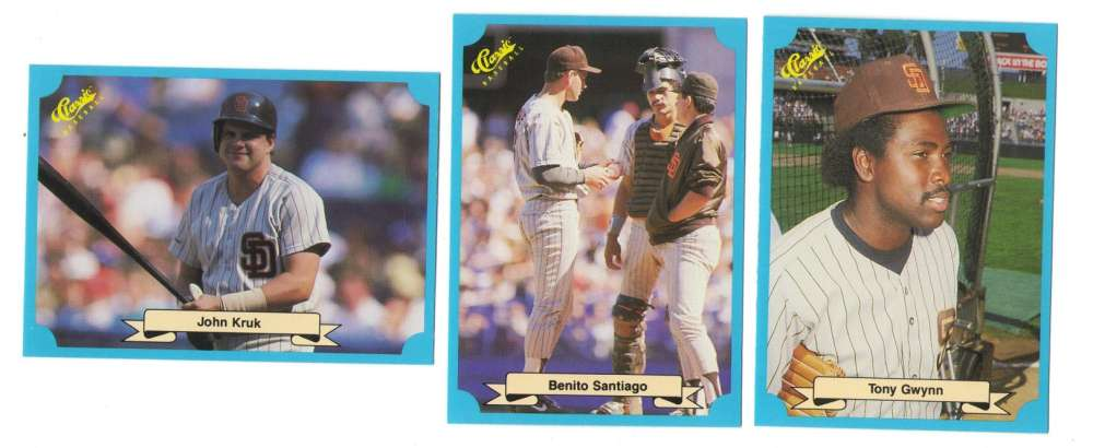 1988 Classic Blue - SAN DIEGO PADRES Team Set