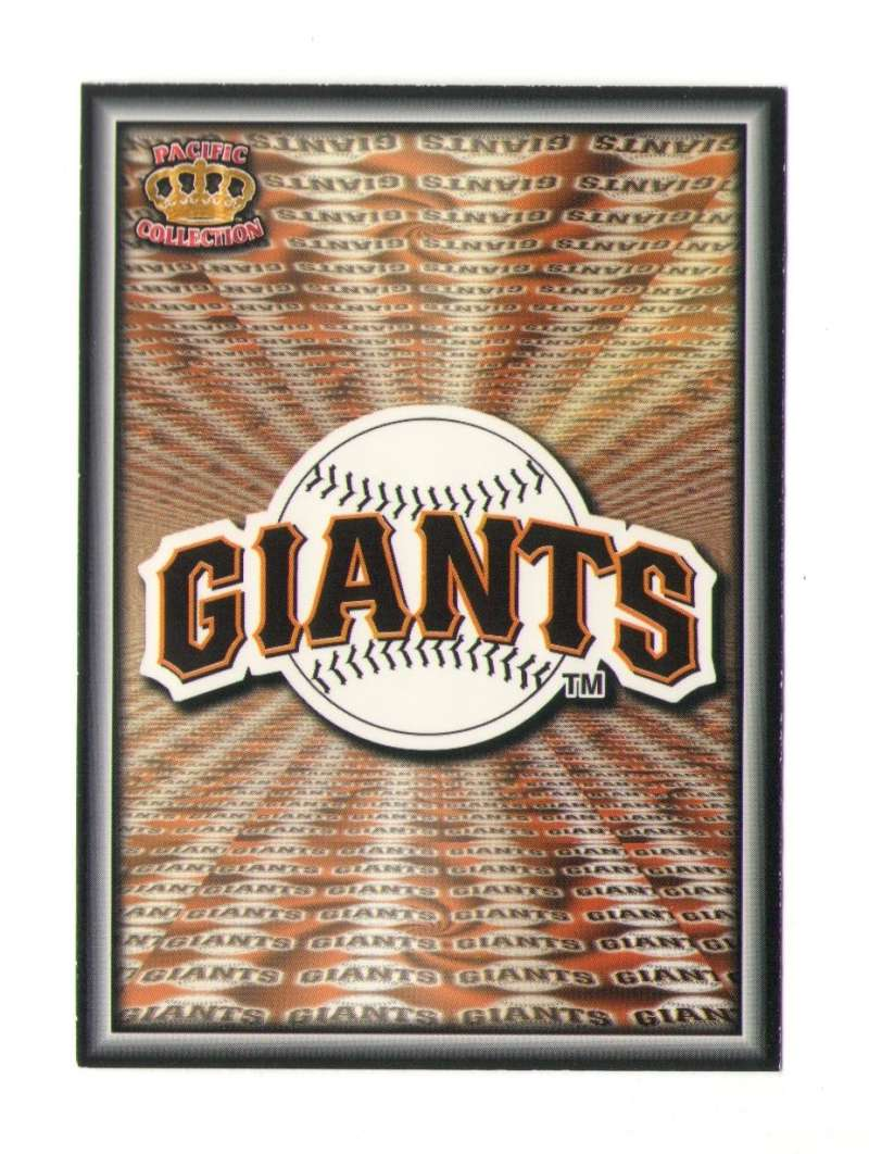 1996 Pacific Prism Team Logo - SAN FRANCISCO GIANTS
