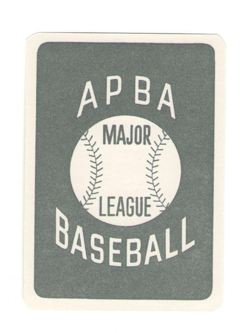 1953 APBA (Reprint) Season - PHILADELPHIA ATHLETICS / A'S Team Set (Issued I985)