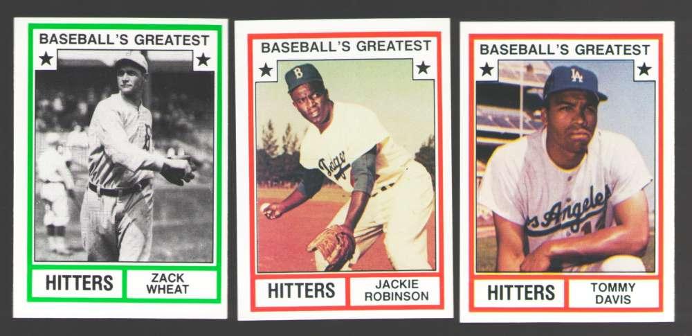 1982 TCMA Greatest Hitters - BROOKLYN / LOS ANGELES DODGERS Team Set