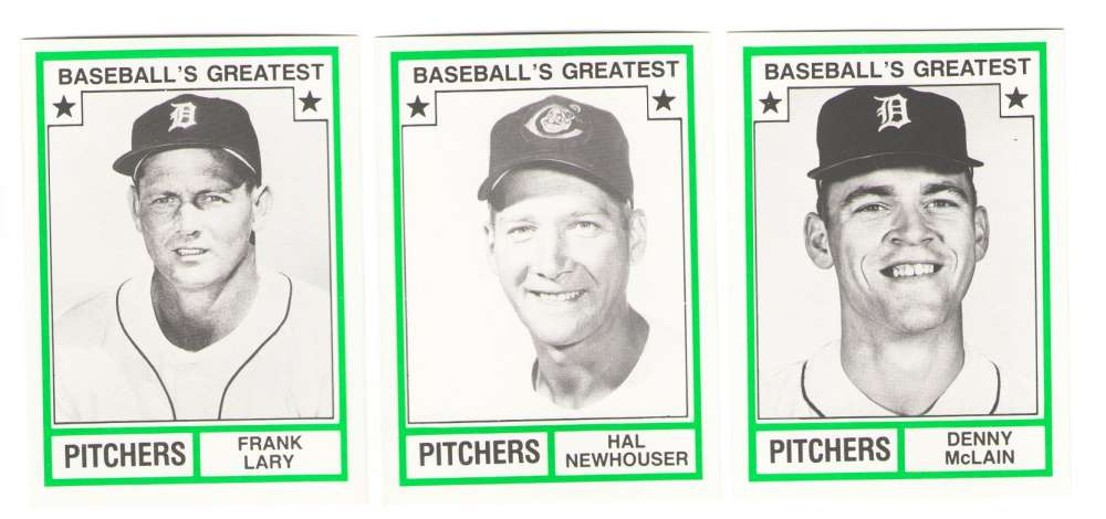 1982 TCMA Greatest Pitchers - DETROIT TIGERS Team Set