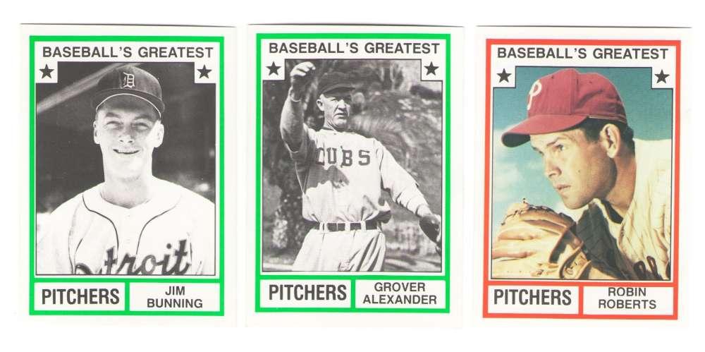 1982 TCMA Greatest Pitchers - PHILADELPHIA PHILLIES Team Set
