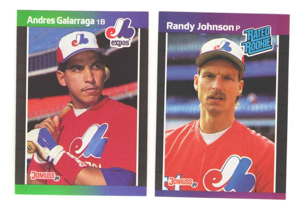 1989 Donruss - MONTREAL EXPOS Team Set w/ Randy Johnson RC
