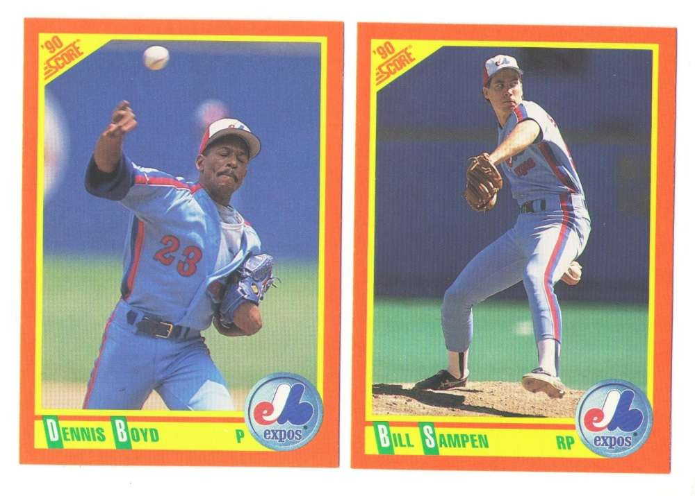 1990 Score Rookies and Traded - MONTREAL EXPOS Team Set