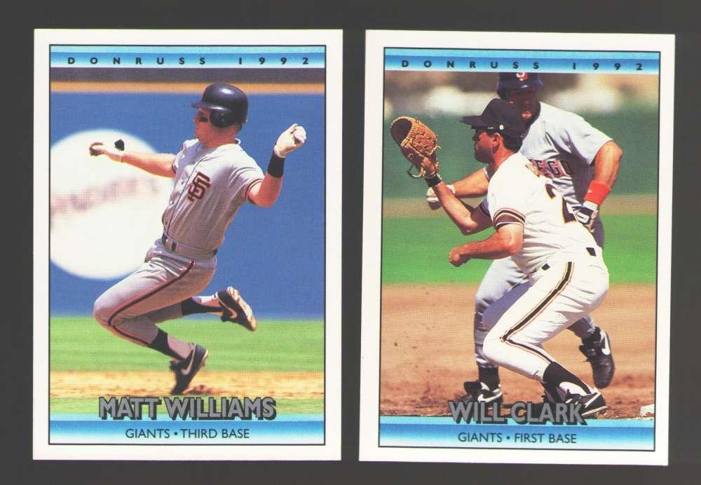 1992 DONRUSS - SAN FRANCISCO GIANTS Team Set