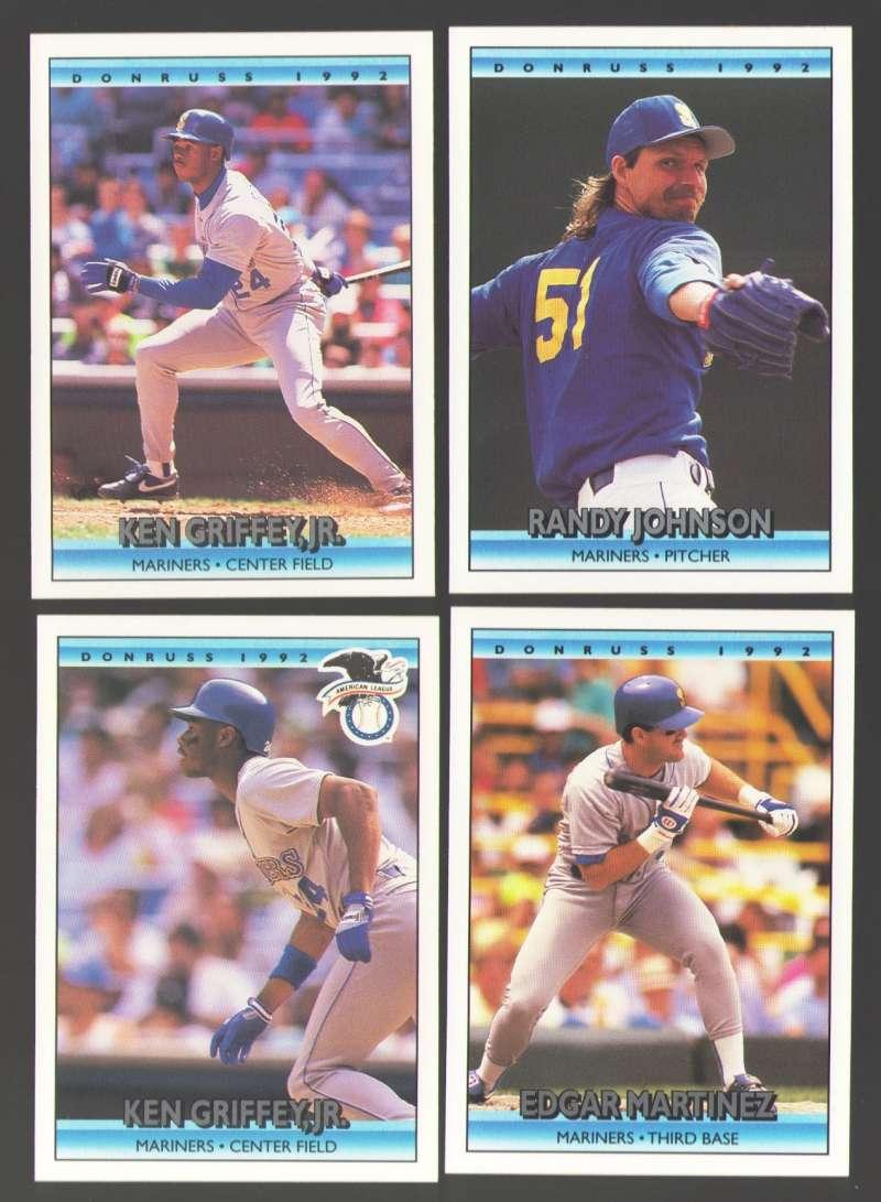 1992 DONRUSS - SEATTLE MARINERS Team Set