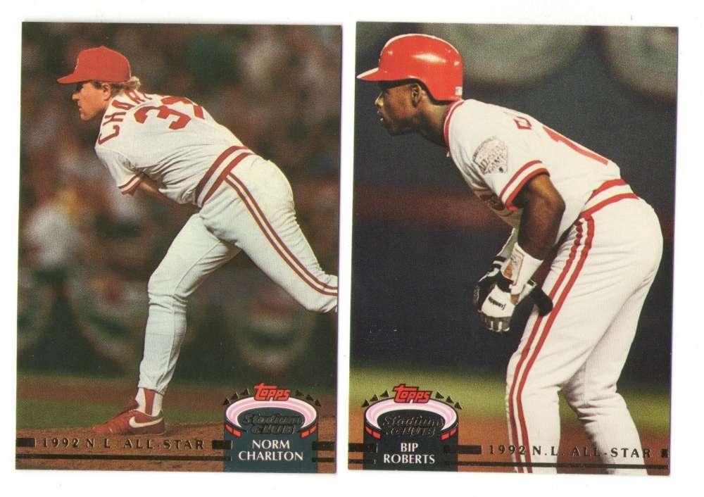 1993 Topps Stadium Club Murphy - CINCINNATI REDS Team Set