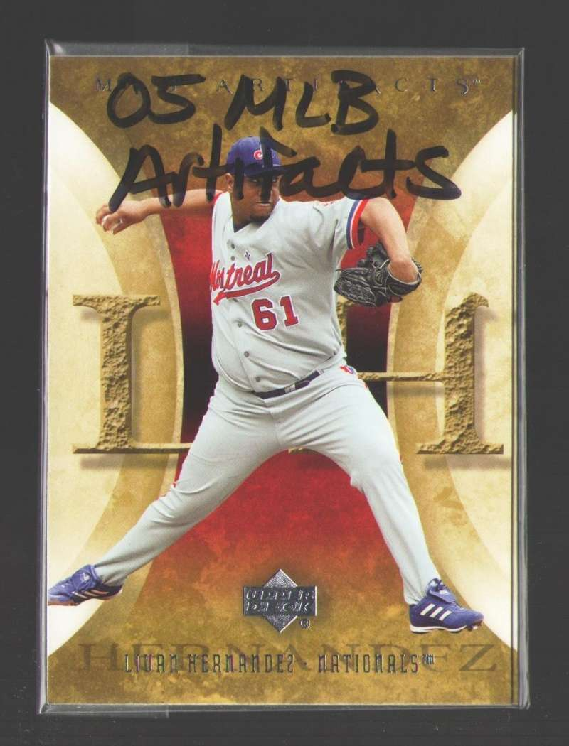 2005 Upper Deck MLB Artifacts - WASHINGTON NATIONALS Team Set