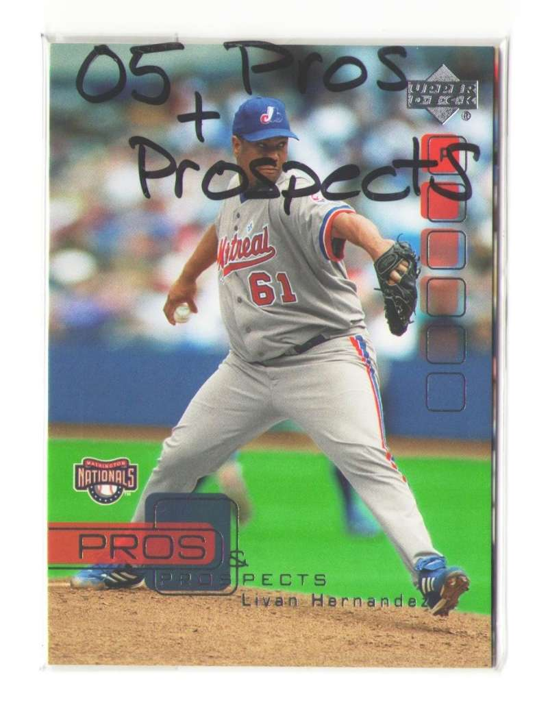2005 Upper Deck Pros and Prospects - WASHINGTON NATIONALS Team Set