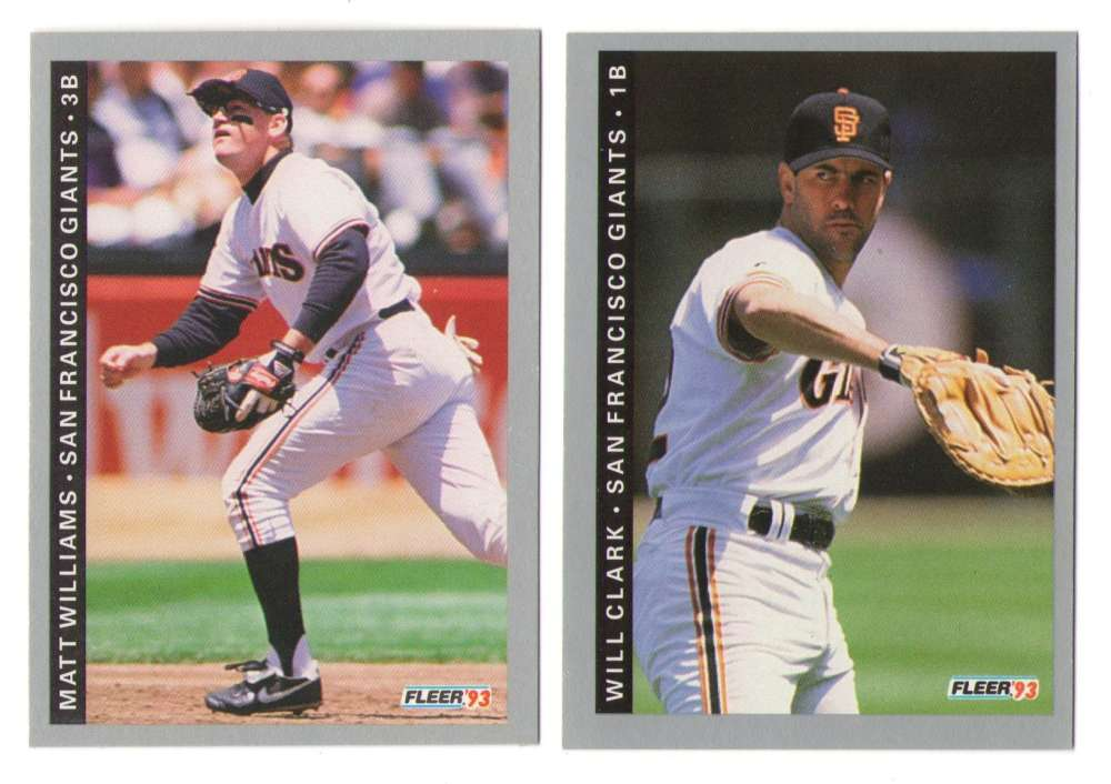 1993 FLEER - SAN FRANCISCO GIANTS Team Set