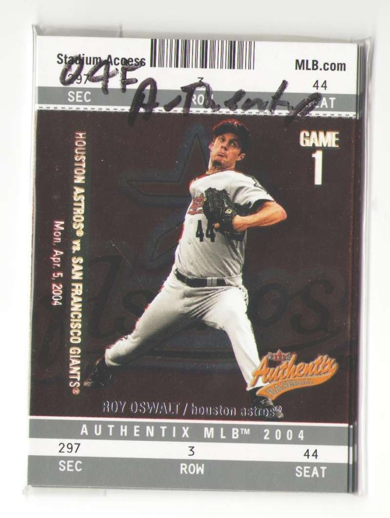 2004 Fleer Authentix (1-100) - HOUSTON ASTROS Team Set
