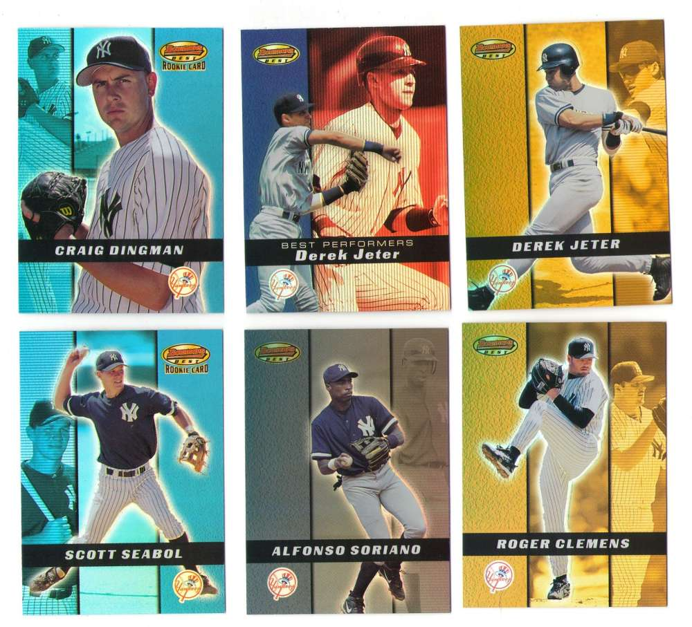 2000 Bowmans Best (1-200) - NEW YORK YANKEES Team Set