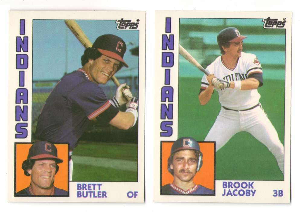 1984 TOPPS TRADED TIFFANY - CLEVELAND INDIANS Team Set