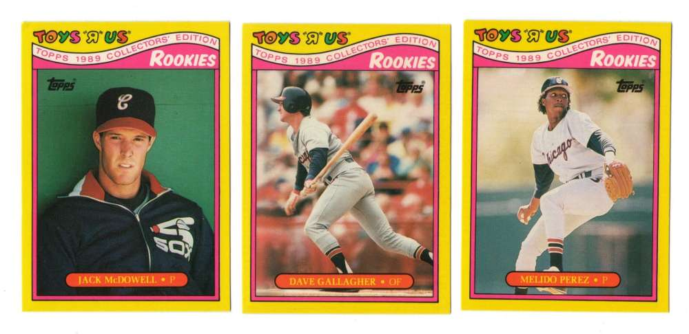 1989 Toys R Us Rookies - CHICAGO WHITE SOX Team Set