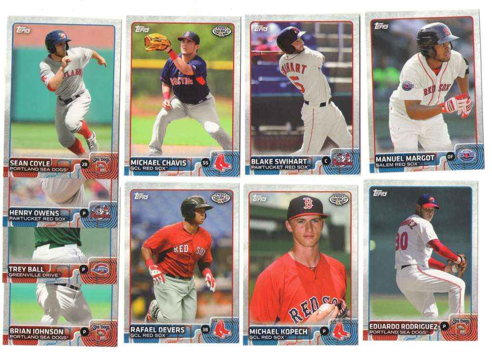 2015 Topps Pro Debut - BOSTON RED SOX Team Set